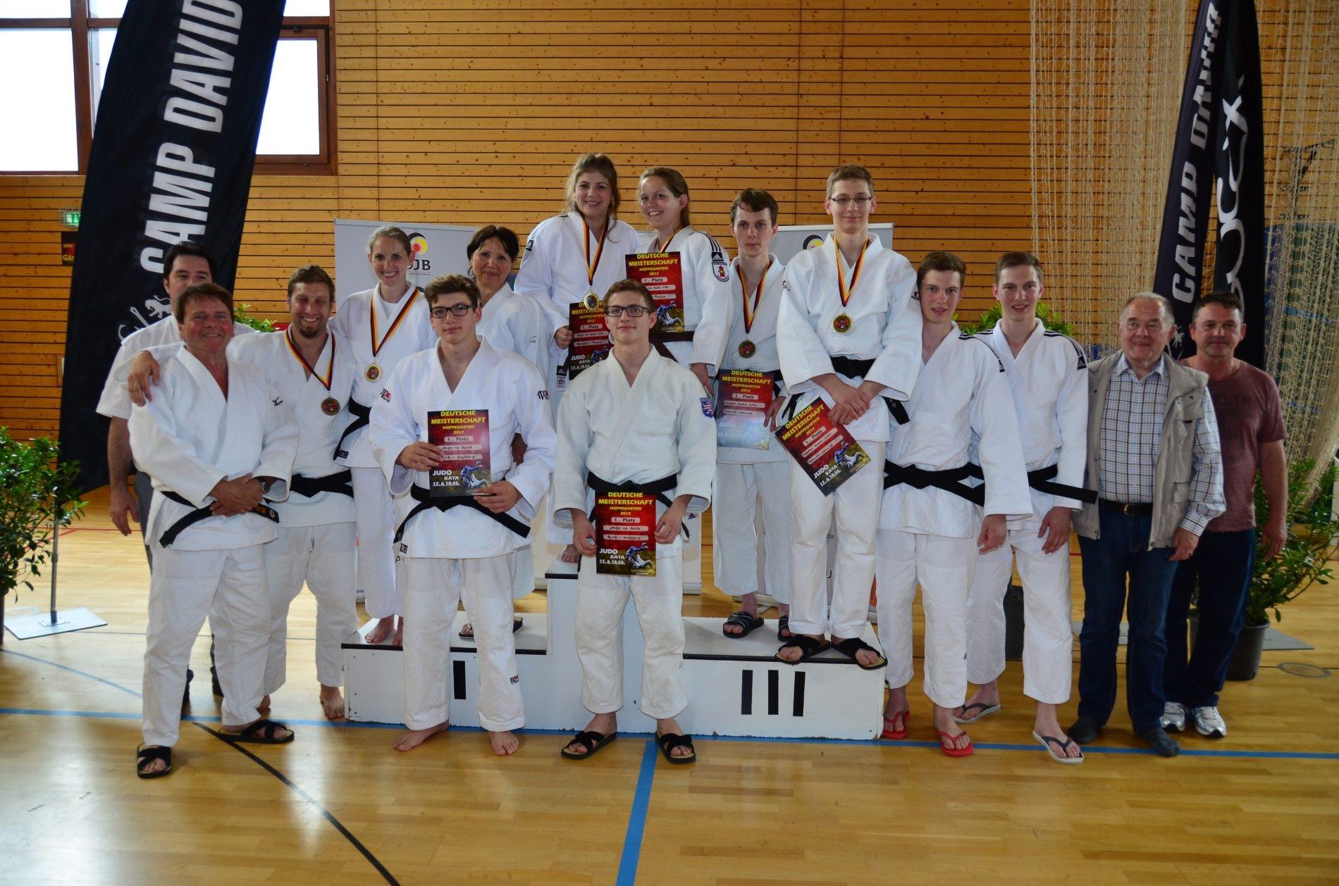 Siegerehrung Deutschen Judo-Kata-Meisterschaft